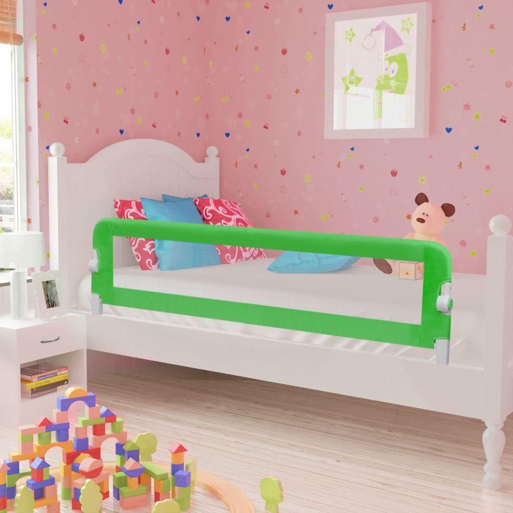 Sängskena för barnsäng 150 x 42 cm grön